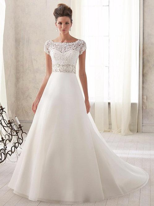 Vestido De Noiva Graça Manga Curta