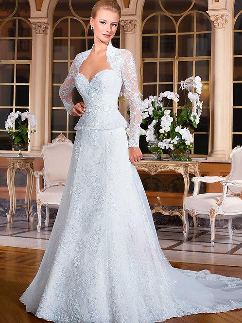Vestido De Noiva Convivência Manga Longa