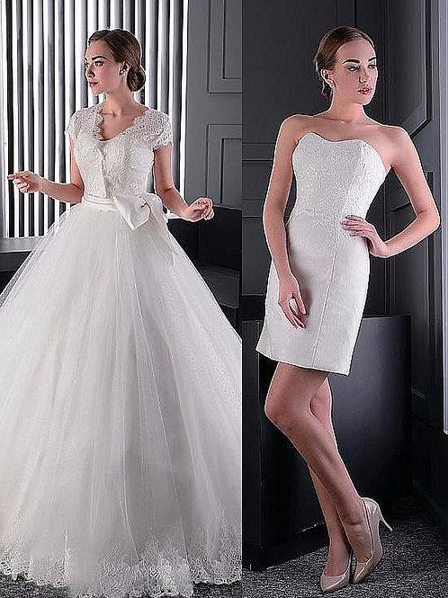 Vestido De Noiva Que Tira A Calda Gola V