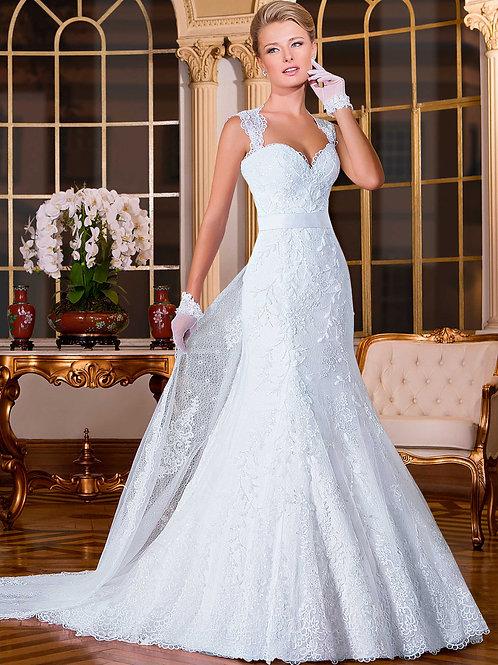 Vestido De Noiva Florescências Sereia Manga Curta