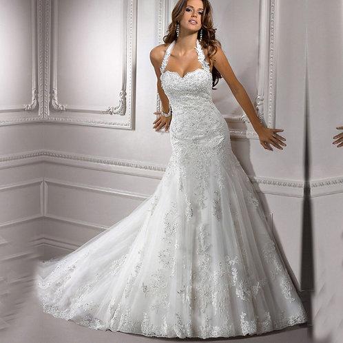 Vestido De Noiva Extremo Longo Costa Nua