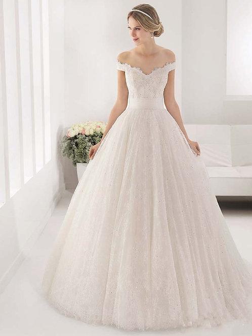 Vestido De Noiva Encanto Princesa Ombro Caído