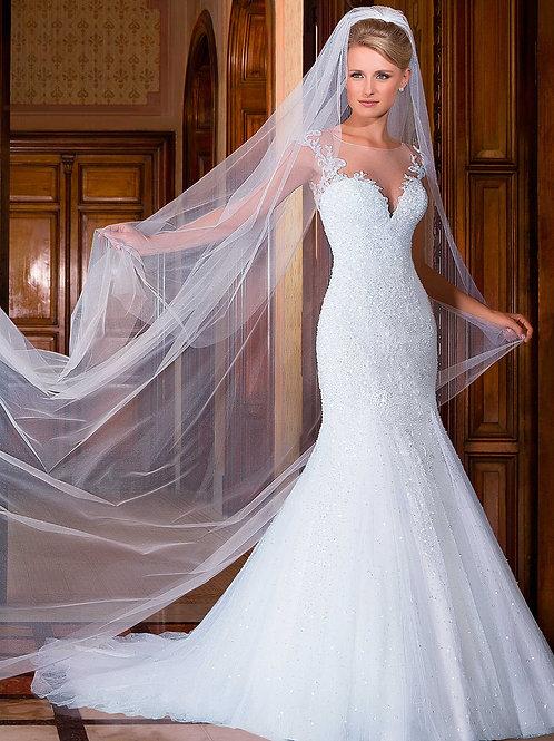 Vestido De Noiva Estima Sereia Sem Manga