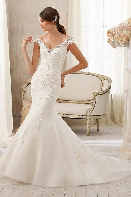Vestido De Noiva Fenômeno Sereia Sem Costas