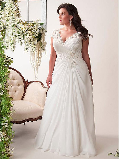 Vestido De Noiva Plus Size Pontual