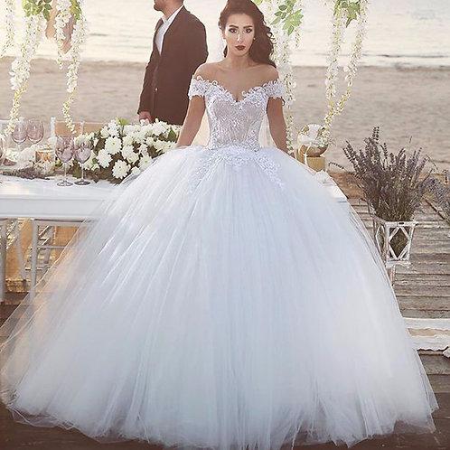 Vestido De Noiva Alteza Princesa Ombro Caído
