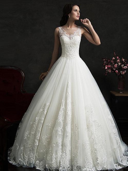 Vestido De Noiva Templo Calda Longa Princesa