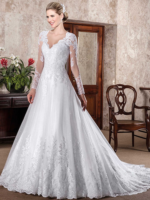 Vestido De Noiva Dignidade Manga Cumprida