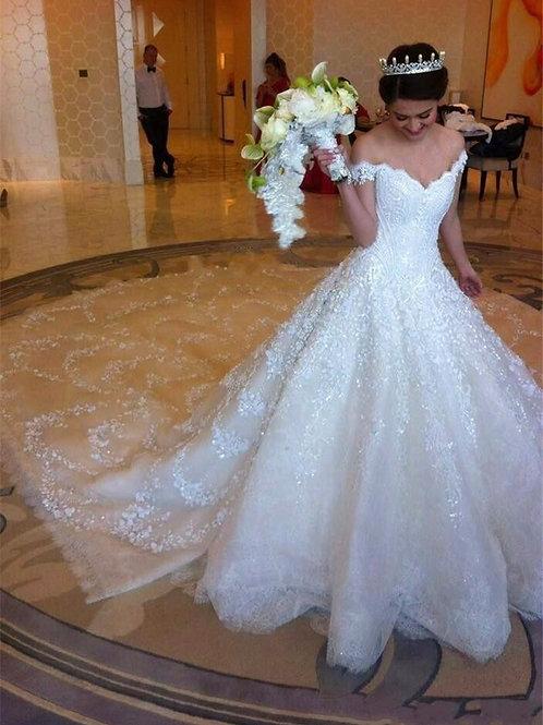 Vestido De Noiva Ana Clara Princesa Ombro Caído