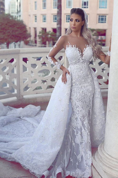 Vestido De Noiva Manga Cumprida Talismã