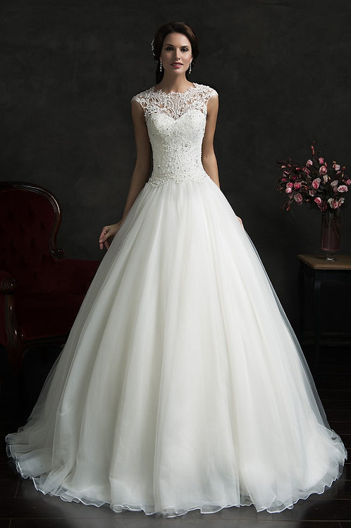 Vestido De Noiva Envolvência Princesa Calda Longa