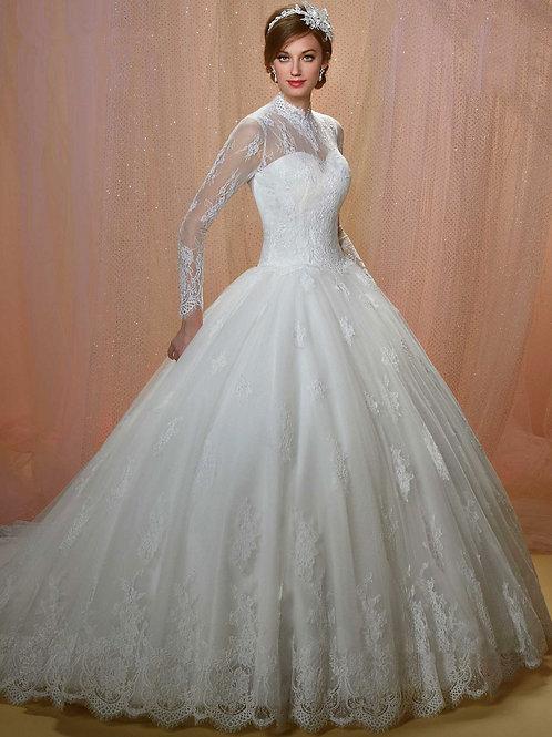 Vestido De Noiva Ótimo Manga Cumprida