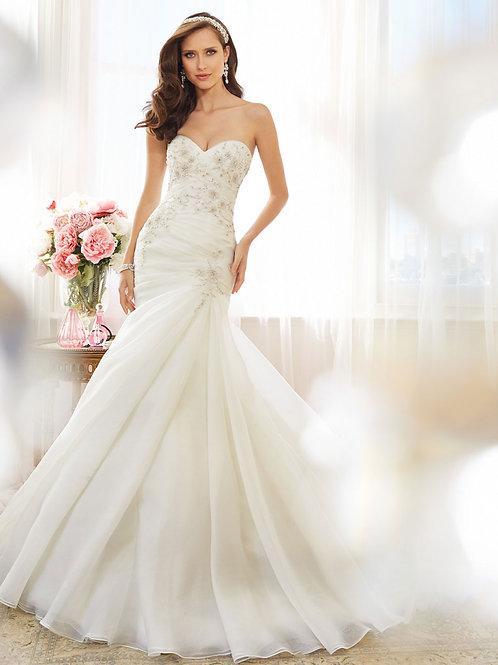 Vestido De Noiva Realce Sereia Sem Costas