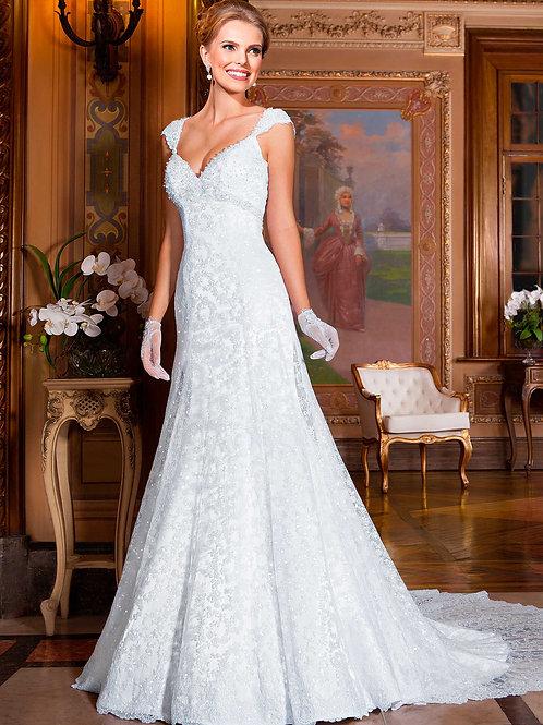 Vestido De Noiva Inspiração Sereia Sem Manga