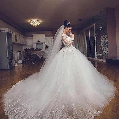 Vestido De Noiva Manga Longa Valência