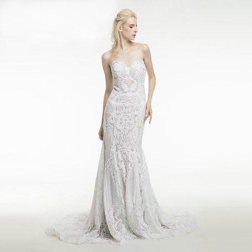 Vestido De Noiva Sereia Relevada Tomara Que Caia