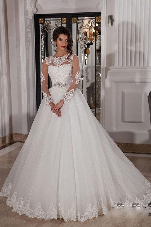 Vestido De Noiva Manga Longa Nobreza