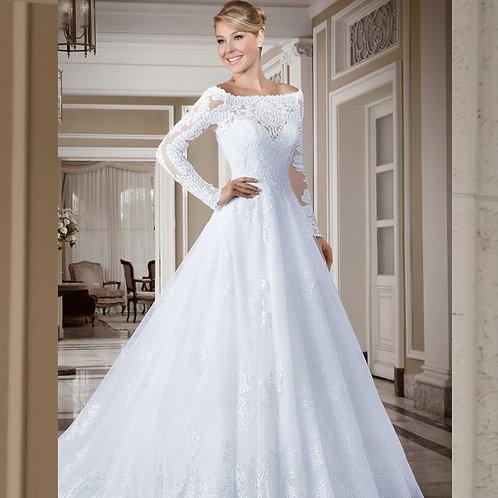 Vestido De Noiva Manga Longa Vista