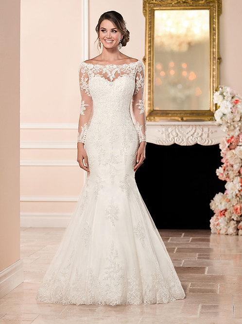 Vestido De Noiva Sereia Manga Longa Excelência