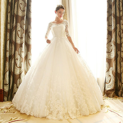 Vestido De Noiva Manga Longa Magistral