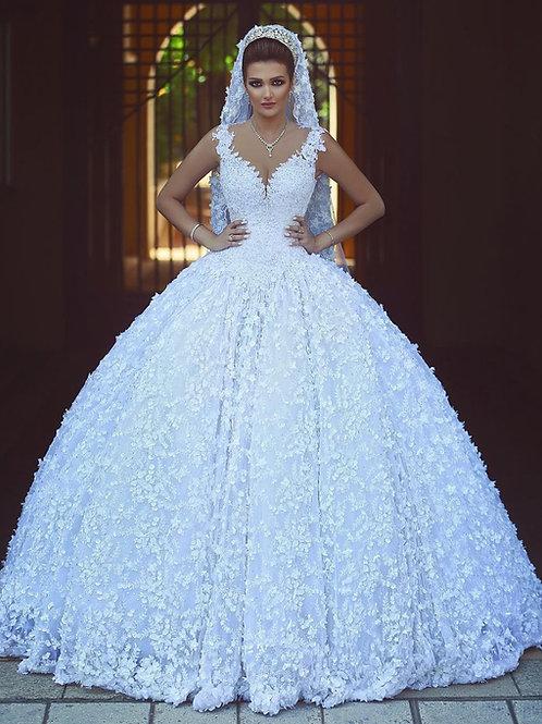 Vestido De Noiva Adoração Princesa Sem Manga