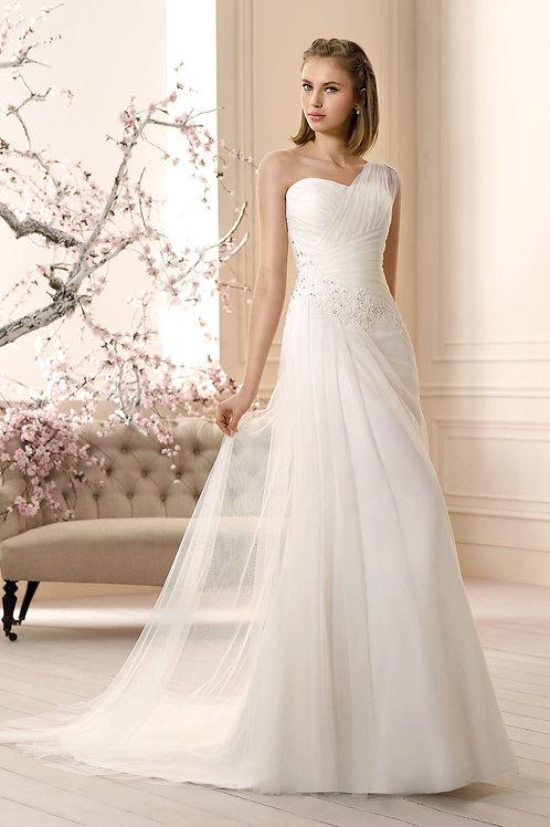 Vestido De Noiva Influência Tomara Que Caia Um Ombro Só