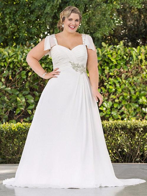 Vestido De Noiva Escolhida Plu Size