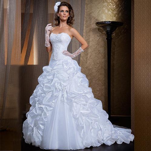 Vestido De Noiva Exibição 2 em 1 Tomara Que Caia