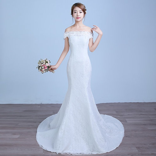 Vestido De Noiva Bela Dama Sereia Calda Longa