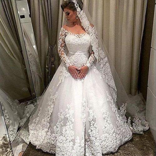 Vestido De Noiva Mágico Manga Cumprida