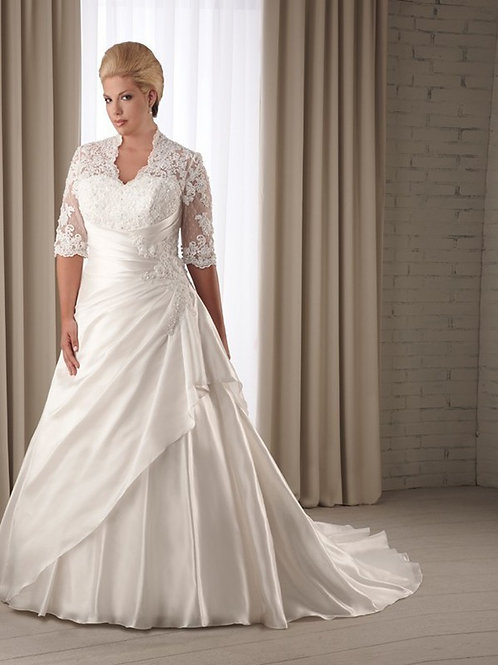 Vestido De Noiva Plus Size Novidade