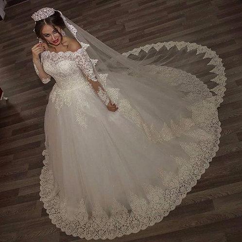 Vestido De Noiva Manga Longa Sedutora