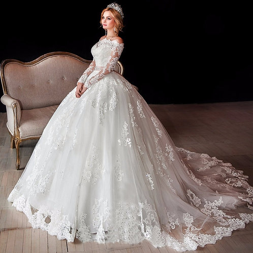 Vestido De Noiva Manga Cumprida Gentileza