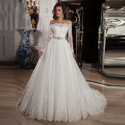 Vestido De Noiva Amizade Manga Longa