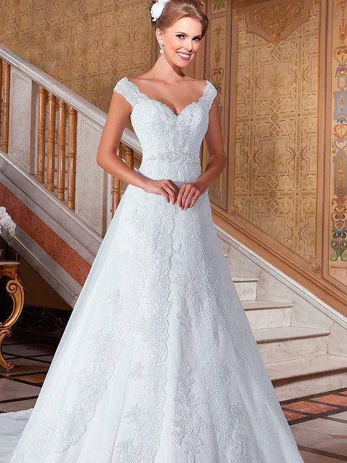Vestido De Noiva Cativante Sem Manga
