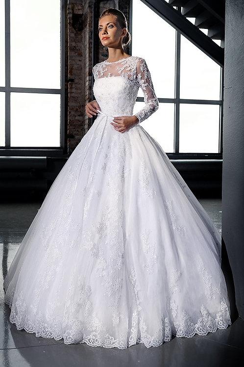 Vestido De Noiva Manga Longa Agrádavel