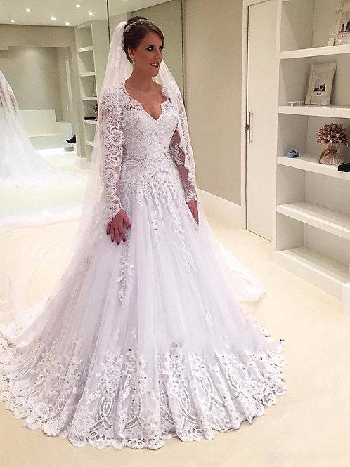 Vestido De Noiva Ternura Manga Longa