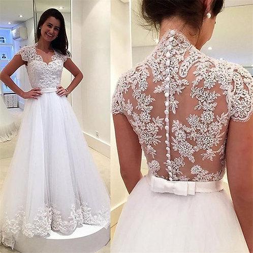 Vestido De Noiva Lendária Sem Manga