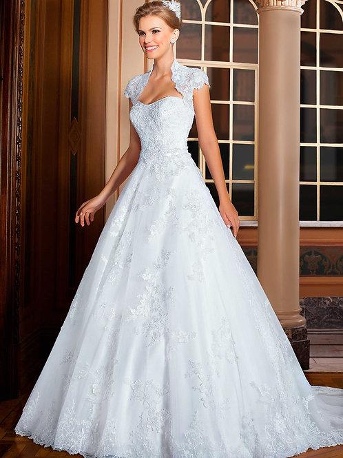 Vestido De Noiva Admirada Manga Curta