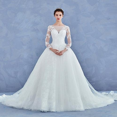 Vestido De Noiva Maravilha Manga Cumprida