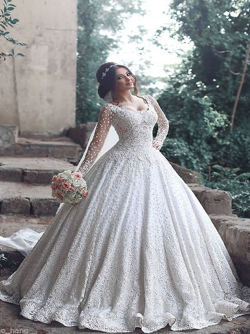 Vestido De Noiva Sinceridade Manga Longa