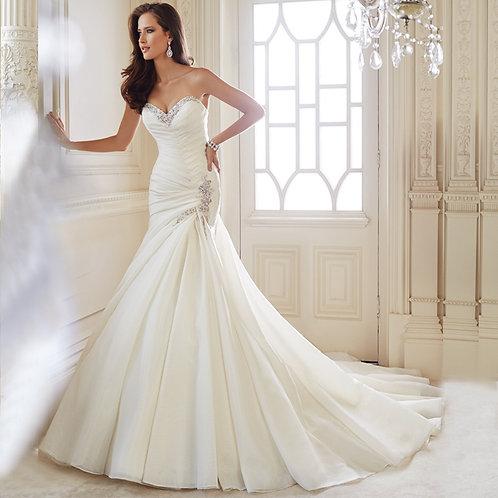 Vestido De Noiva Distinta Sereia Calda Longa