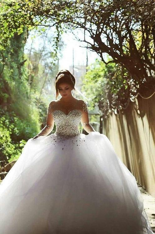 Vestido De Noiva Definitiva Manga Longa