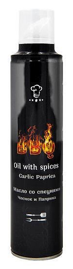 BBQ Oil масло - спрей со специями: Чеснок и Паприка