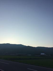 8月の天草市栖本町の朝