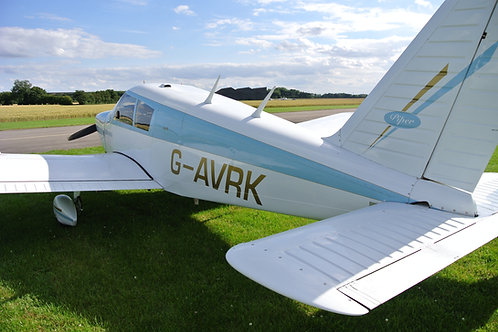 G-AVRK based at Durham Tees Valley Airport offering pleasure flights
