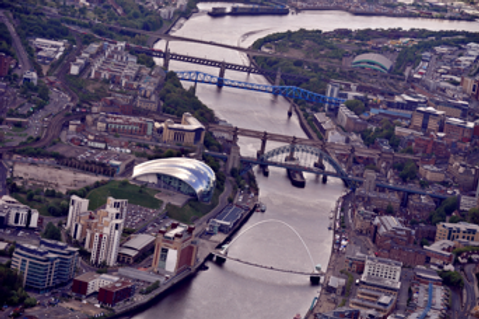 Newcastle Tyne Bridges - Flight Experience