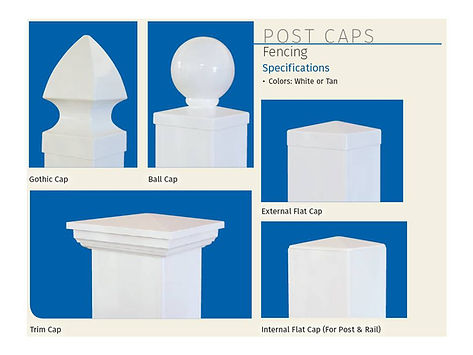 Post Caps, Digger Specialties, Ball Cap, Flat Cap, Trim Cap, Gothic Cap, Vinyl, PVC, Fence or Gate