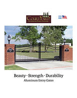 CourtYard® Decorative Aluminum Entry Gates, Beuaty, Strength. Durability, Hundred Series.