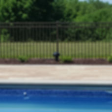 Pool security fence. Safety decorative aluminum fencing.